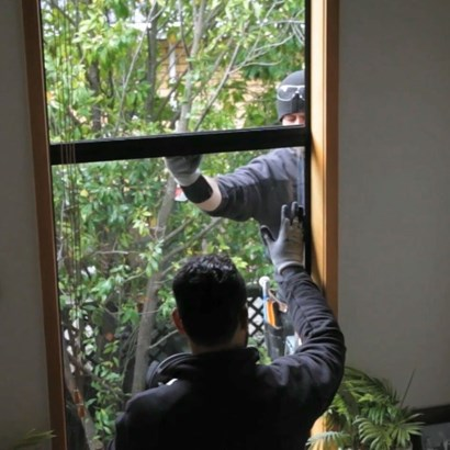 installing retrofit double glazing - aluminium windows