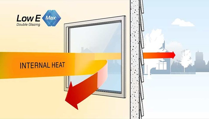 Low heat loss with Low E Double Glazing