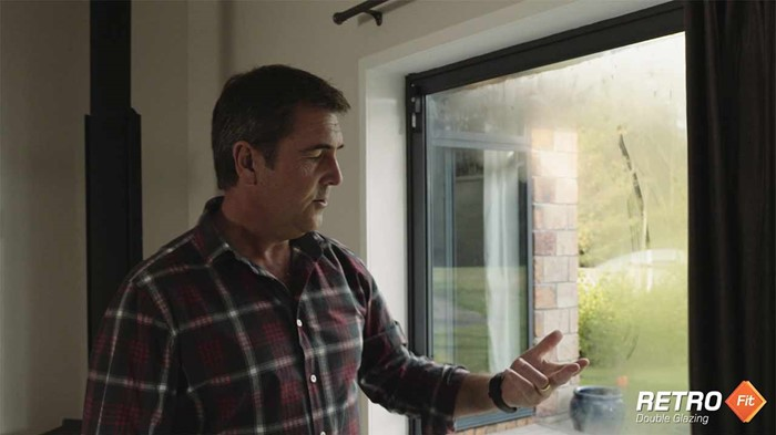 Retrofit double glazing reduces condensation